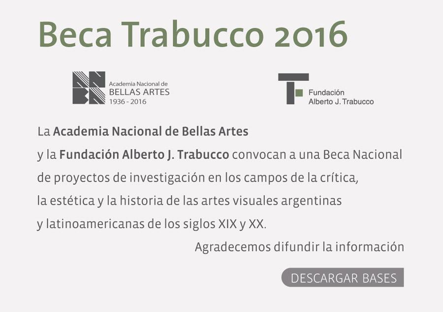 Beca Trabucco 2016 | ANBA